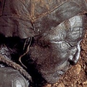 Tollund Man, Denmark's perfectly preserved bog mummy from 2,400 years ago.