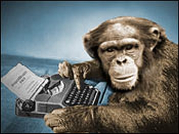 Lucky for me an other authors, chimps are just mastering the typewriter. So their writing technique is 5 years behind us.