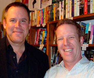 Vince Flynn and me at Once Upon a Crime bookstore, Minneapolis.