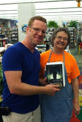 With Barb at Danville, IL Public Library. I'm so grateful for the librarians who always pretend to be happy to see me.