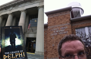 The massive and the mighty: Indianapolis Central Library and the Colfax-Perry Township Public Library, Indiana.