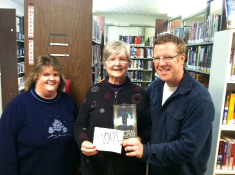 #100 Traci and Cindy at the Mt. Carmel, TN library. Thanks, guys!