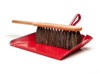For effective cleaning I recommend the Neighbour model 1148189 Horsehair Hand Broom with matching dustpan.