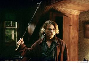 "Writers have to wave off the perfection gremlins.  - Johnny Depp stars as the troubled writer Mort Rainey in Columbia Pictures psychological thriller ""Secret Window."" (AP Photo)"